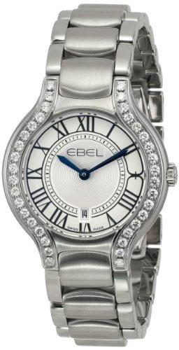 Ebel Beluga Stainless Steel & Diamond Womens Luxury Watch Calendar 1216069