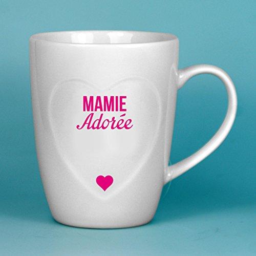 P2G - MUG - Mamie adorée - MA1020 - coeur rose- Dans sa boite cadeau