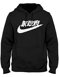 Igtees - Sweat-shirt à capuche - Homme noir Black (White Print)