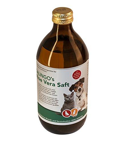 SALiNGO Aloe Vera Saft zur Stärkung des Immunsystems bei Hund und Katze, 500ml (Aloe Pilz Vera)