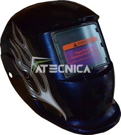 Maske autoscurante für Schweißnähte atecnica Spider Blue LCD Speichertypen Elektrode MIG MAG TIG und (Spider Maske)