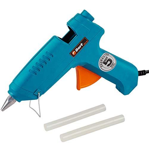 Bort BEK-40 Pistolet à colle 16-20 g/min, 40 W avec 2 bâtons de colle 11 mm pour bricolage et réparer.