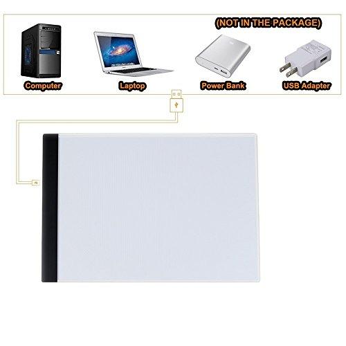 LED Tavoletta luminosa,REDKINDER ultra-sottile A4 Dimensioni di ricarica USB del fumetto Sketches Calligrafia