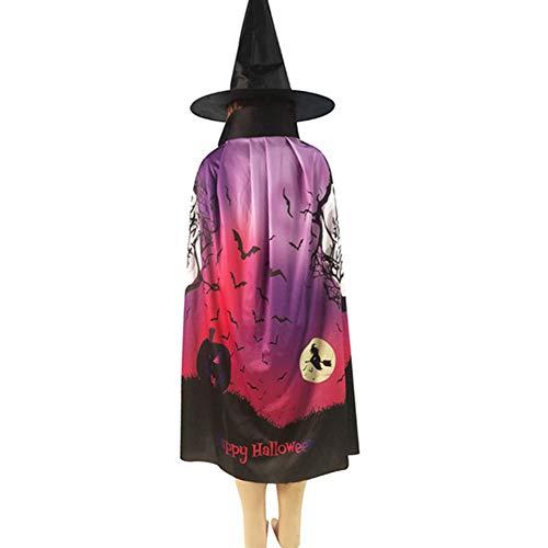 WANSHENGJIE Halloween Kleid Halloween Kürbis Print Cape Schal Poncho Schal Wrap Kostüm, (Ferien Themen Party Kostüme Ideen)