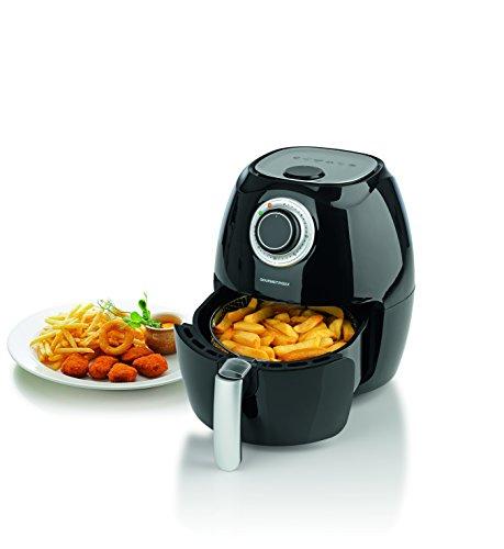 GOURMETmaxx Heißluft-Fritteuse 2,2l 1350W Schwarz / Weiß Wählbar ( Airfryer Ohne Öl Fritteuse ohne Öl für fettarmes Grillen, Backen oder Garren)