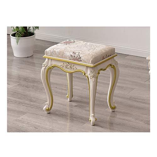 MJIA Dressing Sgabello Trucco Sgabello Barocco Piano Sedia Panca Imbottita, for Vestirsi, Soggiorno, Camera da Letto (Color : B)