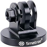 Smatree Alluminio Treppiede Adattatore per Fotocamera GoPro Hero 8/7/6/5/4/3+/3/2/1/DJI OSMO Action, Hero 2018 -(Nero)