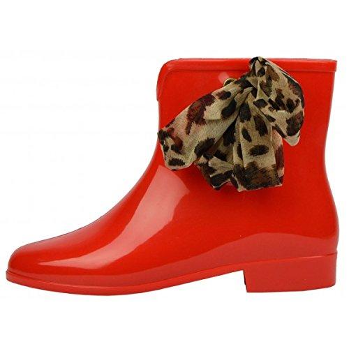 Womens chelsea winter wellington rain wellies pixie ankle boots shoes 3-8