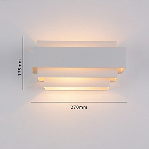Unimall Appliques Murales LED Lampe Murale Applique Interieur Extérieur Lumière Pour Chambre Escalier Boutique Salon Bureau Porche Blanc Chaud
