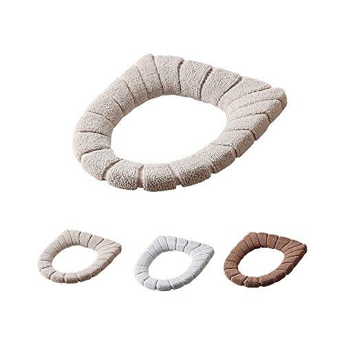 Ya jin 2pcs più caldo copriwater cuscino morbido lavabile closestool coprisedile per il bagno beige