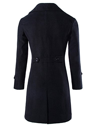 Brinny -  Cappotto  - Basic - Maniche lunghe  - Uomo Nero