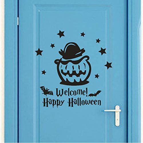 Asade Happy Halloween Witch Bats Wall Sticker Window Home Decal New Bedroom Decoration Wall Stickers New Wall Sticker DIY
