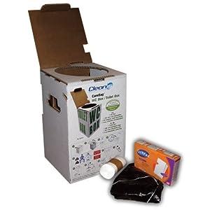 Cleanis Care Bag WC-Set, direkt verwendbar mit 200 biologisch abbaubare Tüten und absorbierenden Pads
