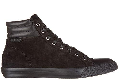 Polo Ralph Lauren chaussures baskets sneakers hautes homme en daim geffron noir