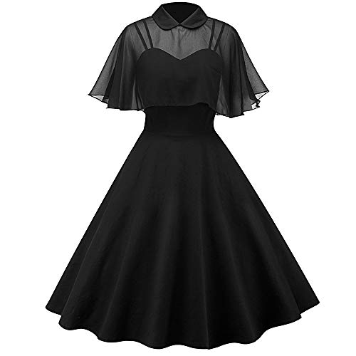 Damen Kleider,Damen Vintage 1950s Langer Rock Mantel Stehkragen Kurzarm Kleid Party Kleid Swing...
