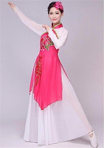 anz chinesische Kleidung / Frau klassischen Tanz Bühnenbild Kostüm Anzug , m , rose (Chinesischen Nationalen Kostüm Für Mädchen)