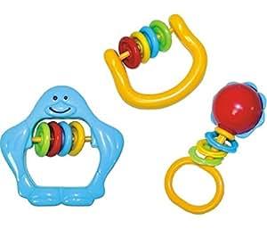 Lots de 3 hochets classiques et amusants pour bébés