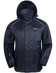 Mountain Warehouse Herren Pakka Wasserdicht Jacke Regenjacke Einpackbar Faltbar Mantel Windjacke outdoor sport
