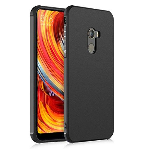 XiaoMi Mi Mix 2 Funda, Serie Negocios A Prueba de Choques Ultra Fino Suave Silicona Contraportada Caso para XiaoMi Mi Mix 2 (Negro)