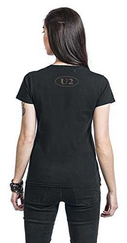 U2 Joshua Tree Girl-Shirt Schwarz Schwarz