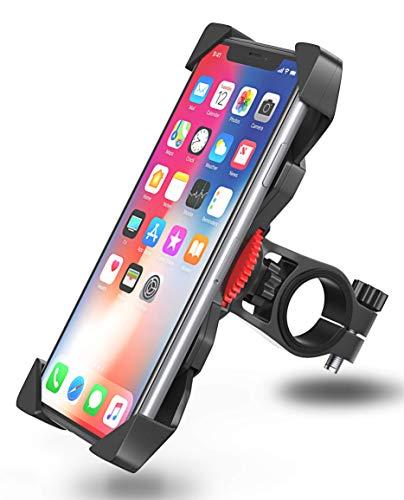 ad Anti-Shake Bovon 360°Rotation Universal Fahrradhalterung Motorrad Fahrrad Lenker für iPhone Xs max / Xr / X / 8 / 7/ 6 Plus, Samsung Galaxy S10 Plus und alle 3.5-6.5 Zoll Handys ()