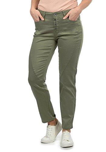 Beige Damenhose mit elastischen Bund