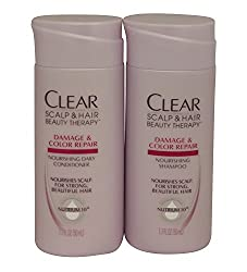 Clear Scalp & Hair Travel Size Total Care Nourishing Shampoo & Conditioner,1.7 Fl. Oz Each (4 Pack) Total of 8 BOTTLES