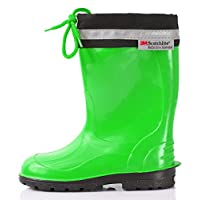 Lemigo Rubber Wellington Boots EU = UK Children´s with Top Kim 972 (Green,