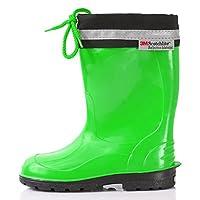 Lemigo Rubber Wellington Boots EU = UK Children´s with Top Kim 972 (Green,