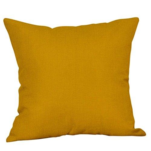 VOVO Kissenbezug❤️Vovotrade Senf Kissenbezug Gelb Streifen Geometrisch Herbst Herbst Kissenbezug Dekorative Moderne Wohndekoration in Einem Dezenten Design (E, 18