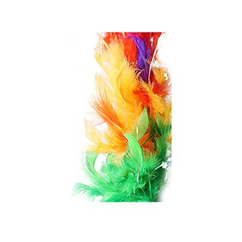Federboa 180cm Federschal 50g Karneval Boa 11 Farben (Bunt - Regenbogen)