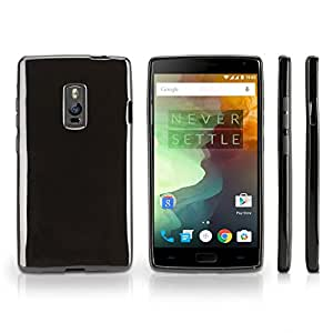 OnePlus Two Case, BoxWave® [Tuxedo SuitUp Case] Glossy Black TPU Gel Skin Case for OnePlus Two
