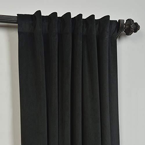 ChadMade 2er Set Vorhangstoff, Vorhangstoff aus massivem, mattem Samt Vorhangstoff Vorhangstoff Rückwand/Stabtasche 127B x 213H cm, Birkin Collection