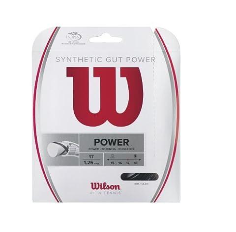 Wilson Synthetic Gut Power 40-Feet Tennis String Set, Black, 16 by Wilson