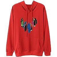 Damen Sweatshirt,Geili Mode Frauen Herbst Winter Federdruck Langarm Sweatshirt Jumper Damen Lose Casual Hoodie... preisvergleich bei billige-tabletten.eu