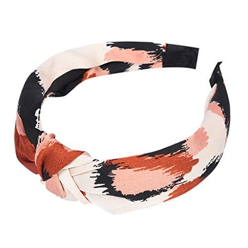 kolila Billig Stirnband Ausverkauf!!!Damen Mode Leopardenmuster Stretchy Twisted Niedliches Haarband Zubehör Haar Klammern(Weiß) -