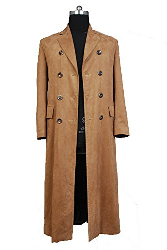 Doctor Who Dr. Brown Long Trench Coat Suit Costume Cosplay Kostüm Herren (Who Kostüm Doctor Zehn)