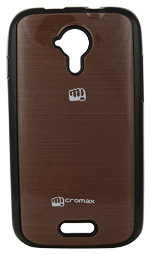 iCandy™ Colourful Shiny Soft Black Border Cover For Micromax Canvas HD A116 - Coffee  available at amazon for Rs.170