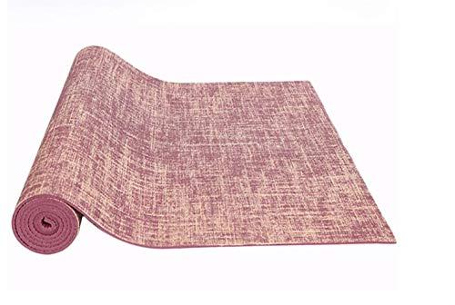 ZRDY Natürliche Jute Yoga Mat Pad Umweltfreundliche Reversible Hybrid Leinen Yoga Mat Kit for Yoga-Fitness-Übung (Color : Red) -