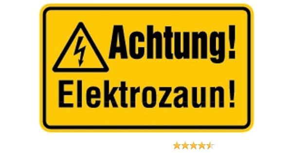 Warnschild WARNING Elektrozaun zum Einhängen Hinweisschild Achtung Weidezaun