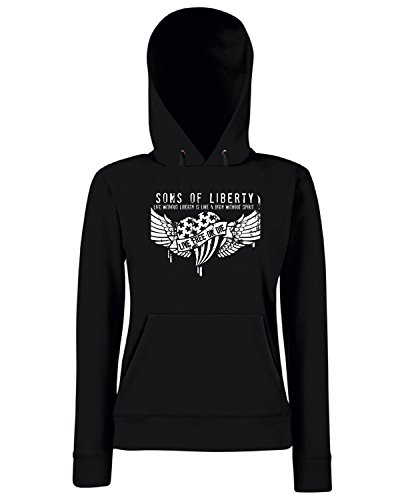T-Shirtshock - Sweats a capuche Femme TM0613 life without liberty is like a body without spirit Noir