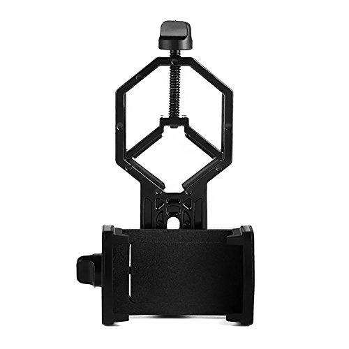 Aomekie AO7020Universal Handy-Halterung–kompatibel mit Fernglas (beidäugig, einäugig), Spektiv, Teleskop und Mikroskop–Für iPhone Sony Samsung Moto usw.–Für Naturaufnahmen/Umwelt