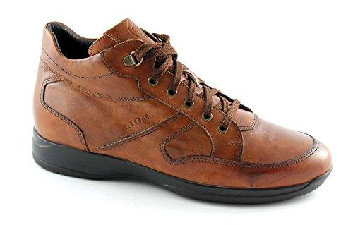 LION 8497 cuoio scarpe uomo polacchini scarponici mid lacci 40