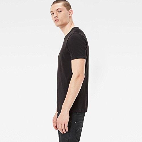 G-STAR RAW Herren T-Shirt Base R T S/s 2-Pack Schwarz (Black 990)