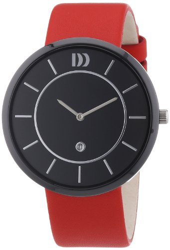 Danish Design - 3314445 - Montre Mixte - Quartz Analogique - Bracelet Cuir Rouge