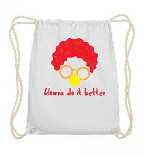 rtige Baumwoll Gymsac - Clown - Zirkus - Geschenk - Karneval - Kostüm - Circus - Gift: Clowns Do It Better (Sport Star Kostüm Ideen)