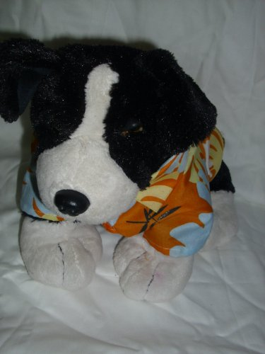 Hundebekleidung Hunde T-Shirt Hundetrikot Tierdress Tierbekleidung Hawaihemd Gr. L: 28 x 21 cm Farbe: Orange, Hellblau, Gelb und Dunkelblau.