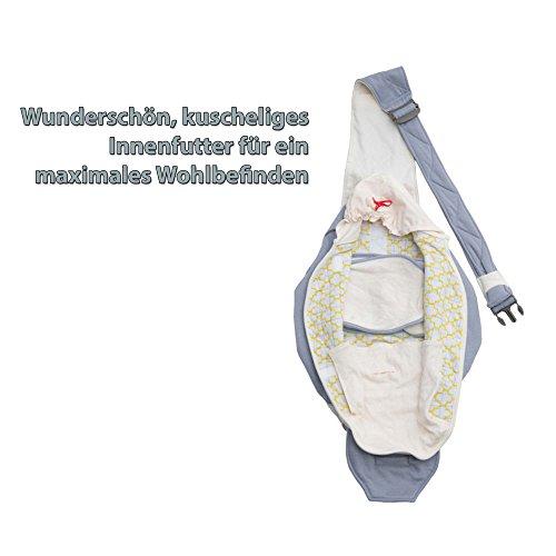 Lodger Shelter 2.0 - 3in1 Babytrage, Babytragetuch, Babysling sowie Transportdecke für Babys und Eltern, ab Geburt bis 18 Monate (max. 12kg), Sicheres Verschlusssystem, Trage-Tuch für Babys und Kinder, Schönes Design, Neu und OVP - 6