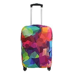 Explore Land Luckiplus Spandex Housse de protection de bagages à roulettes pour valises de 46 à 81cm