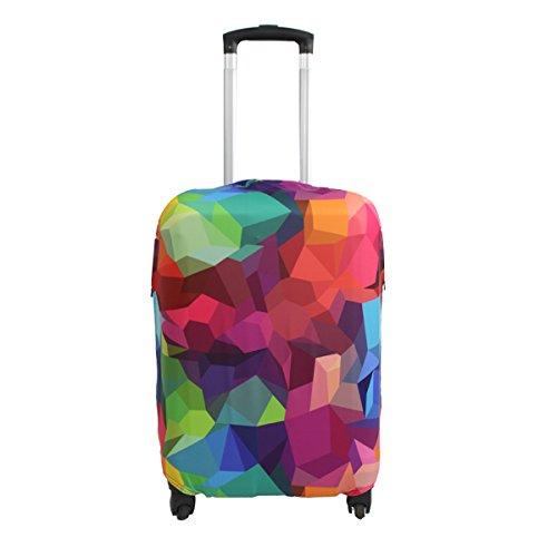 Explore Land Spandex viaje equipaje cubierta Carretilla caso protectora cubierta (Geometry, L (27-30 pulgadas equipaje))